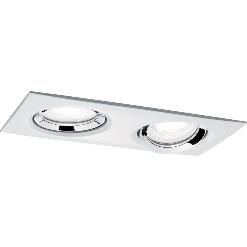 Kit 1 spot à encastrer salle de bains orientable Bbc nova gu10, lumière  blanche