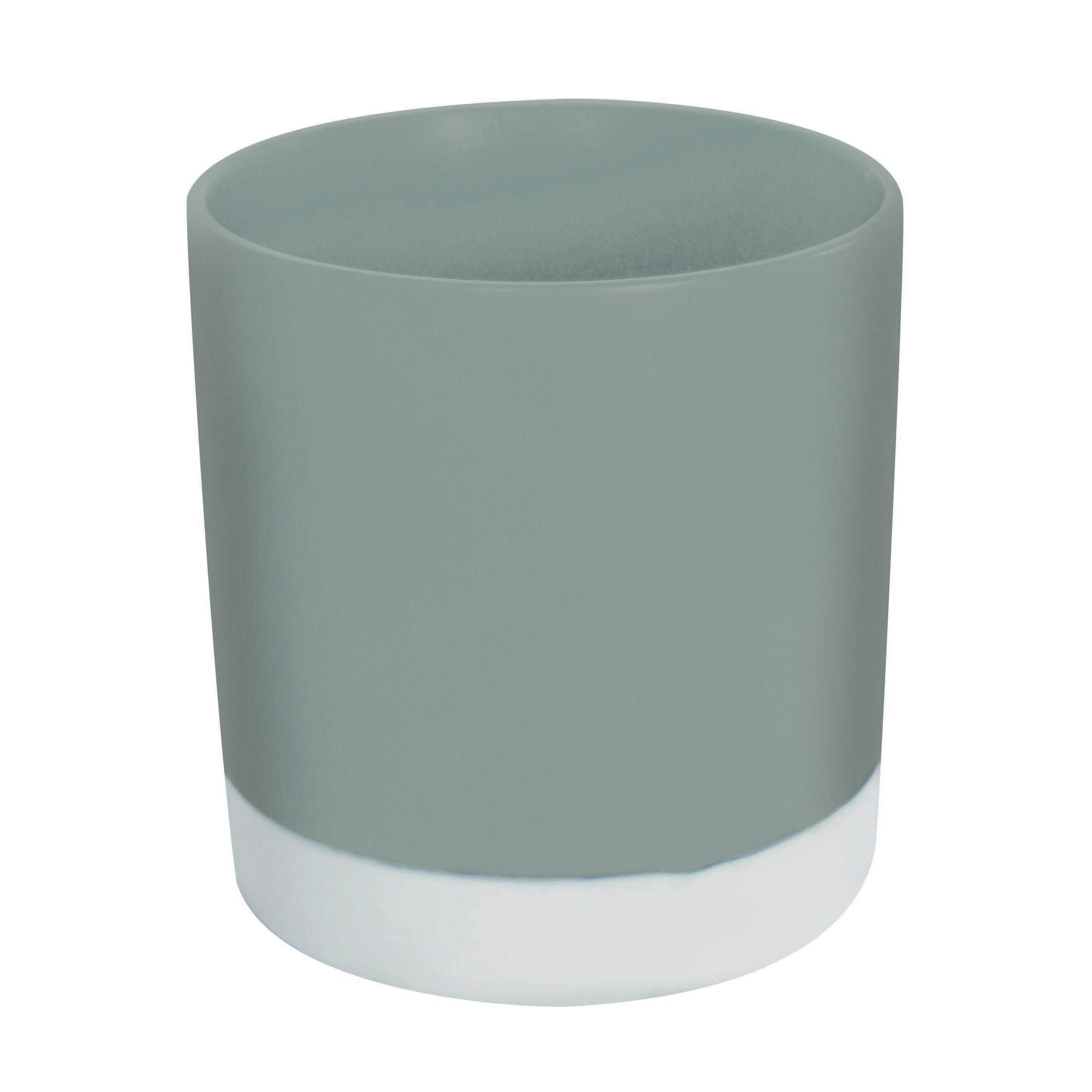 Pot range-couverts céramique blanc gris