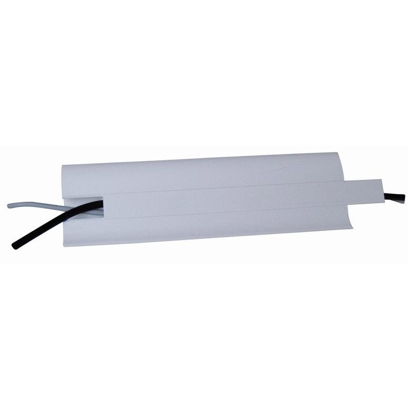 Plinthe Pvc Cache Fil Blanc 12 X 60 Mm L25 M