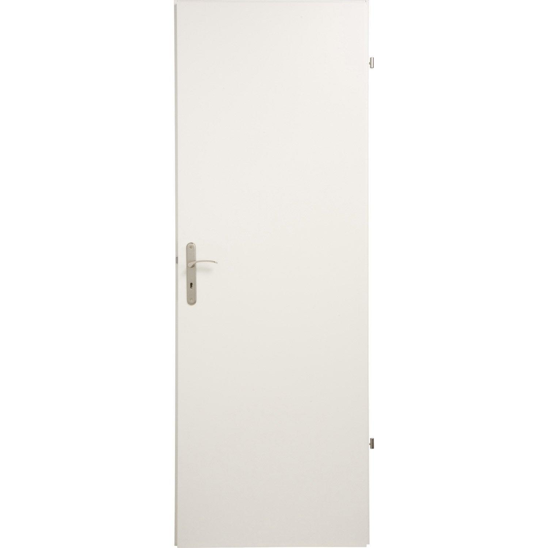 Charmant Bloc Porte Médium (mdf) Blanc Home Sans Bâti, H.204 X