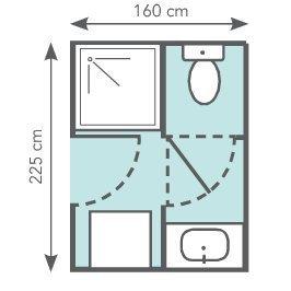 2 optimiser les m de la salle de bains - Plan Salle De Bain Avec Wc