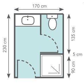 Beau Des WC Séparés Dans 3,9 M² : Une Cabine De Douche à Lu0027entrée De La Pièce  Crée Un Petit Coin Du0027intimité.
