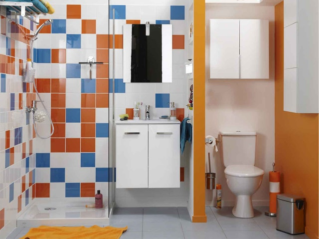 Panier linge fibre v g tale phuket naturel x x cm leroy merlin for Amenager une tres petite salle de bain