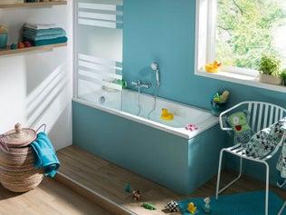 La salle de bains de bébé