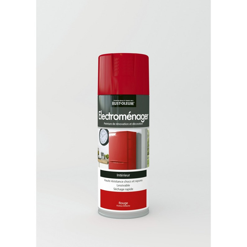 Peinture Aérosol Electroménager Brillant Rustoleum Rouge 04 L