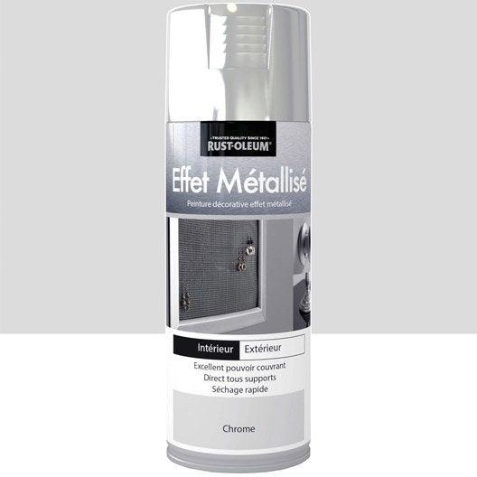 Peinture aérosol Effet metallisé métallisé RUSTOLEUM, chrome, 0.4 l
