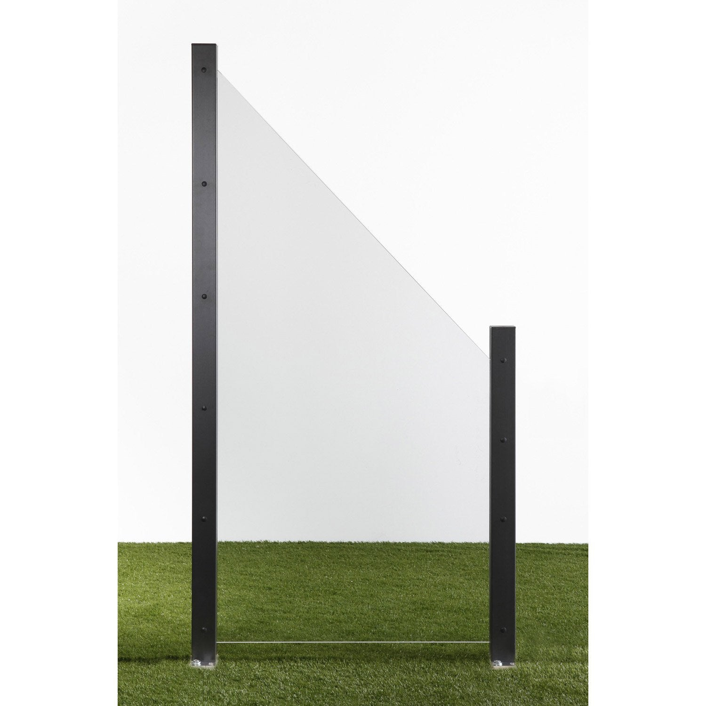 Brise Vue En Verre Pour Terrasse à panneau verre semi-vitré, l.90 cm x h.180 cm, naturel | leroy merlin