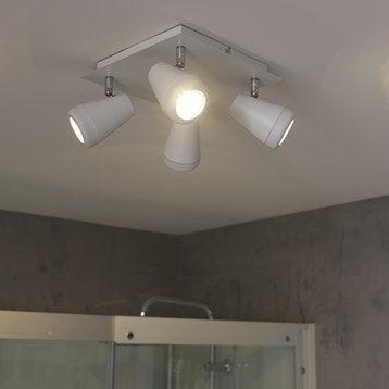 Plafonnier Manta, LED 4 x 4.5 W, GU10 blanc chaud