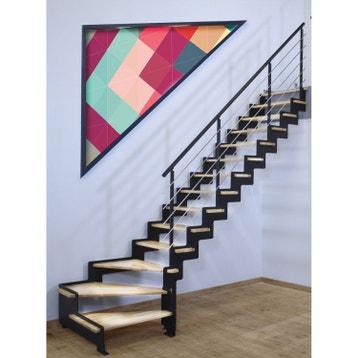 f74073cb0a0 Escalier quart tournant structure acier marche bois lamellé collé abouté