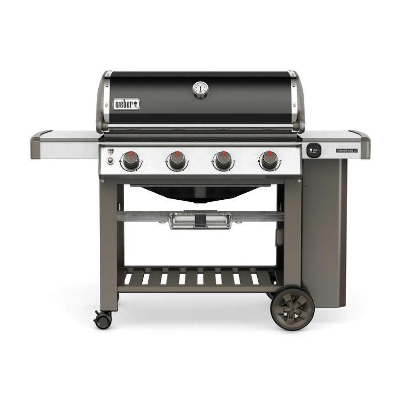 Barbecue Au Gaz Weber Genesis 2 E410 Noir Leroy Merlin
