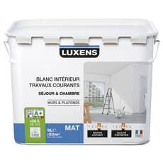 peinture blanche mur et boiserie travaux courants luxens satin 10 l leroy merlin. Black Bedroom Furniture Sets. Home Design Ideas