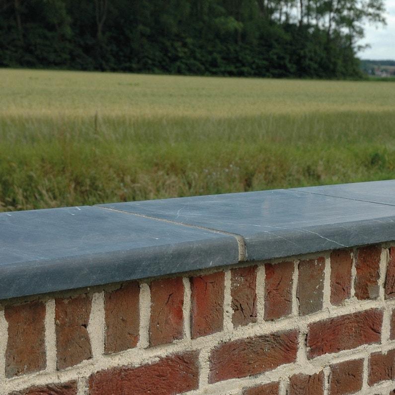 Couvre Mur Lisse Bleu Gris H4 X L28 X P50 Cm