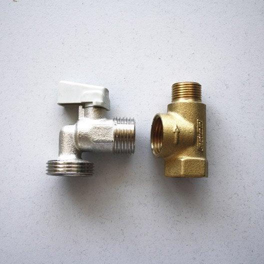 té de piquage et robinet machine à laver 12 x 17 mm - 15 x 21 mm ... - Installer Robinet Machine A Laver
