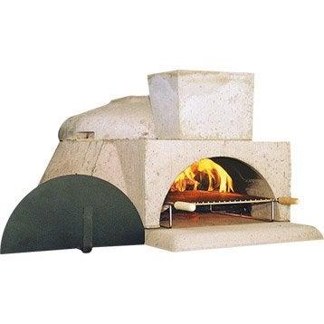 Four en béton réfractaire gris rosé Le pizzaiollo, l.110 x L.131 x H.61 cm