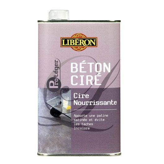 Cire nourissante b ton cir incolore liberon 1 l leroy - Beton cire leroy merlin prix ...