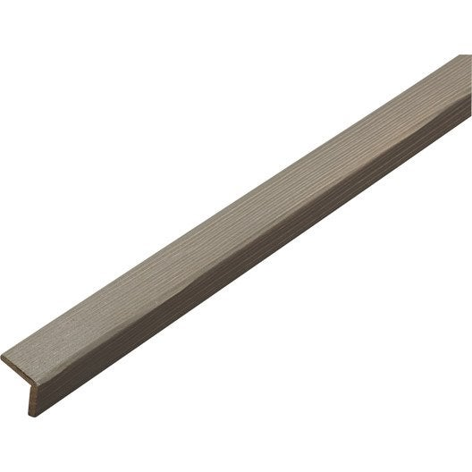 baguette d 39 angle sapin arrondie sans noeud taupe 27 x 27 mm l 2 5 m leroy merlin. Black Bedroom Furniture Sets. Home Design Ideas
