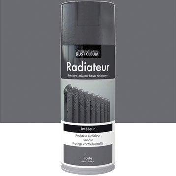Peinture aérosol Radiateur texturé fer vieilli RUSTOLEUM, fonte, 0.4 l