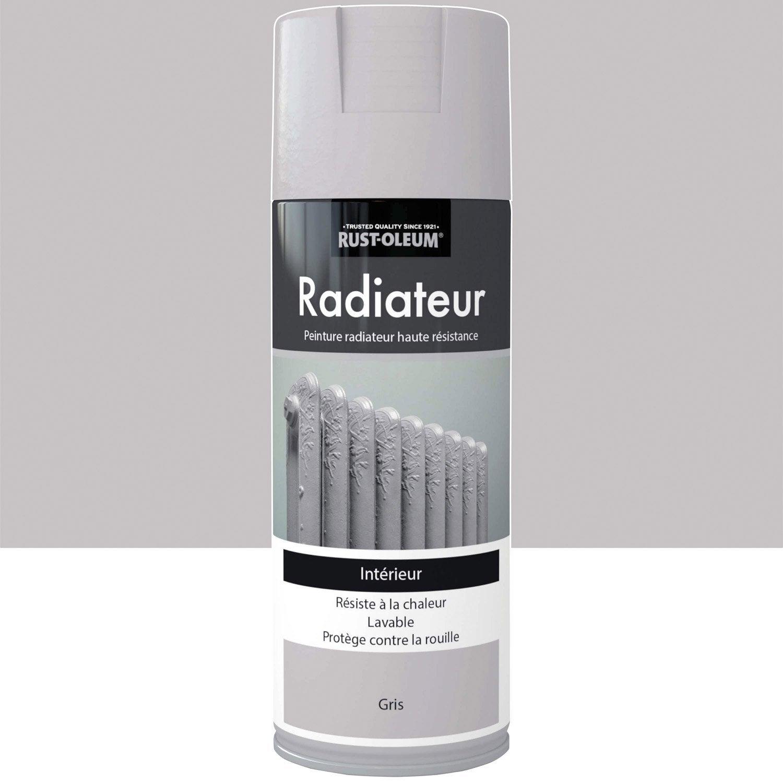 peinture a rosol radiateur satin rustoleum gris 0 4 l leroy merlin. Black Bedroom Furniture Sets. Home Design Ideas