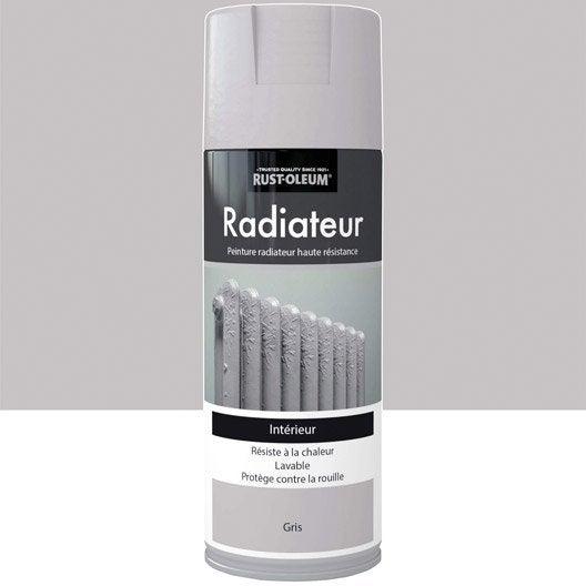 peinture a rosol radiateur satin rustoleum gris 0 4 l. Black Bedroom Furniture Sets. Home Design Ideas