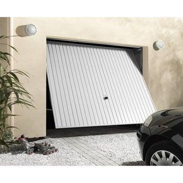 Porte de garage basculante manuelle Débordante H.200 x l.240 cm