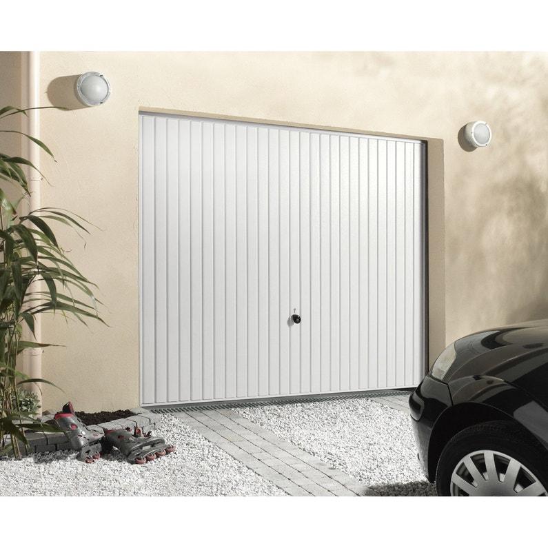Porte De Garage Basculante Manuelle Débordante Sans Portillon H 200