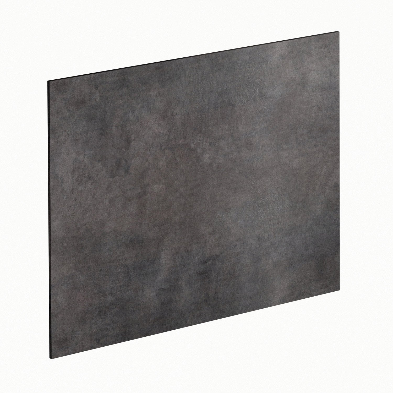 Crédence stratifié Effet métal vieilli H.64 cm x Ep.9 mm x L.300 cm