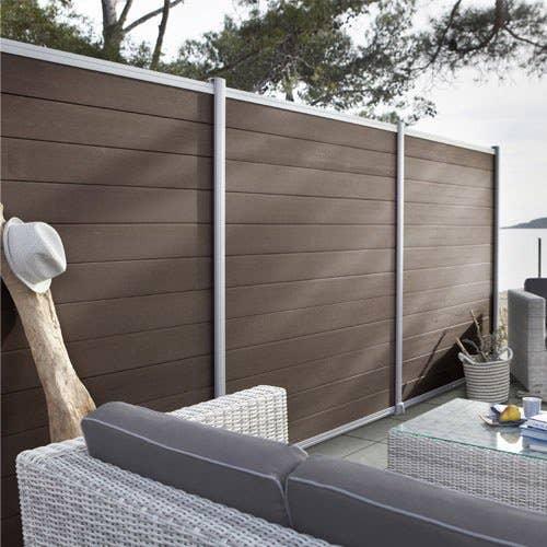 cl ture composer composite kyoto brun fonc leroy merlin. Black Bedroom Furniture Sets. Home Design Ideas