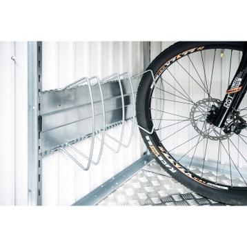 Livraison incluse. Abri à vélo métal Bikeholder gris, l.72 x H.33 x P 21bf47085e39