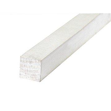 Tasseau raboté sapin sans nœud prépeint blanc 21x27mm L 2.40m
