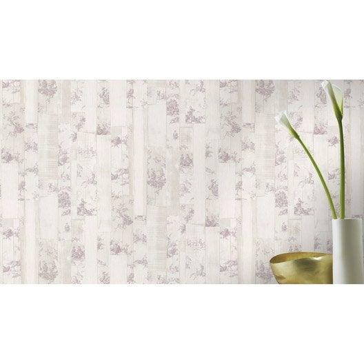 papier peint intiss toile de jouy beige et rose leroy. Black Bedroom Furniture Sets. Home Design Ideas