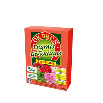 Engrais naturel géraniums et plantes fleuries OR BRUN 800gr  8 m²