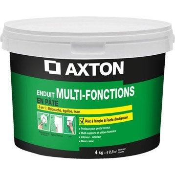 Enduit multifonction pâte blanc cassé AXTON, 4 kg