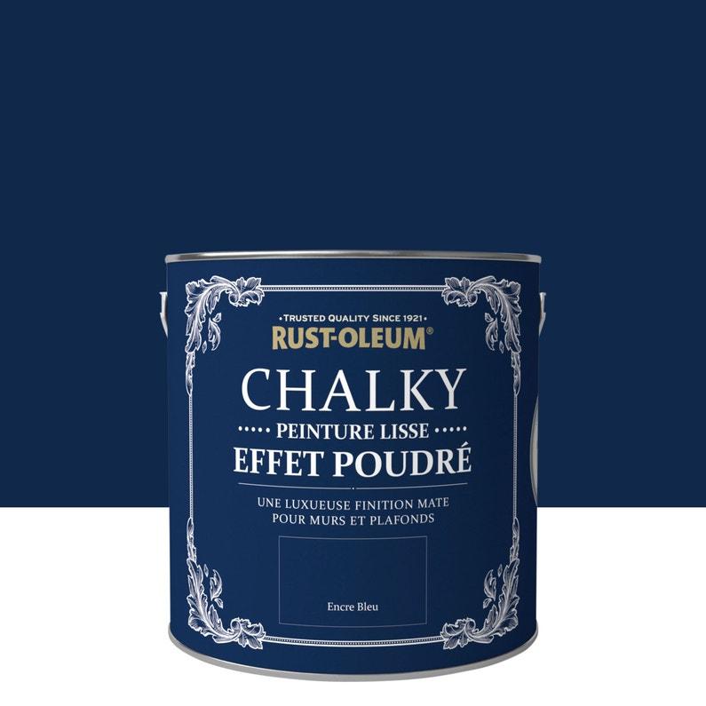 Peinture Mur Pièces à Vivre Rust Oleum Chalky Encre Bleue Mat 2 5 L