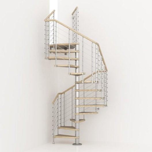 Escalier cube line pixima colima on carr en bois et m tal 13 marches leroy merlin - Escalier colimacon leroy merlin ...