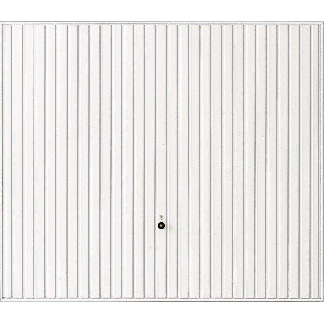Porte de garage basculante manuelle débordante sans portillon H.200 x l.237  cm