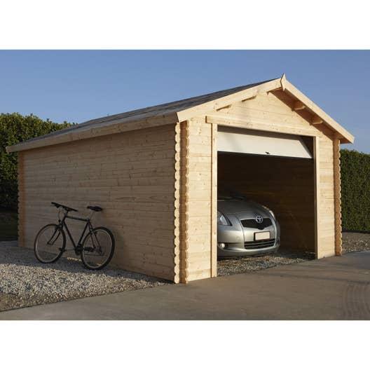 garage bois nova 1 voiture m leroy merlin. Black Bedroom Furniture Sets. Home Design Ideas