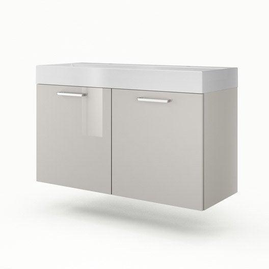 meuble vasque 120 cm taupe neo line leroy merlin. Black Bedroom Furniture Sets. Home Design Ideas