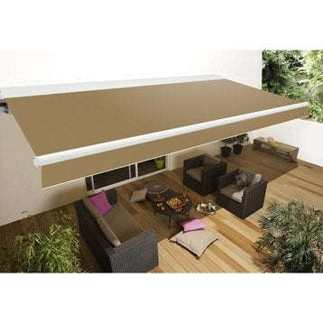 store banne store terrasse store banne sur mesure leroy merlin. Black Bedroom Furniture Sets. Home Design Ideas