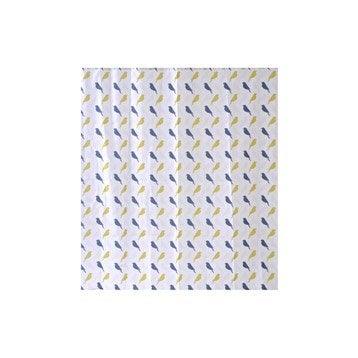 Rideau de douche en textile multicolore l.180 x H.200 cm, Birds SENSEA