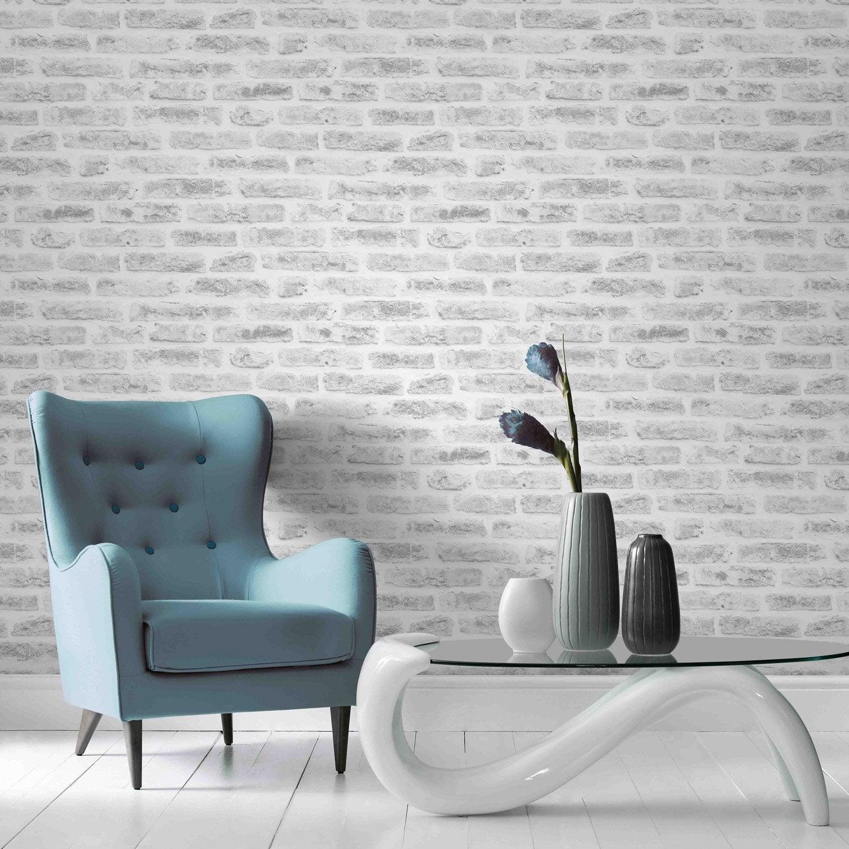 Papier Peint Intiss Industry Blanc Leroy Merlin