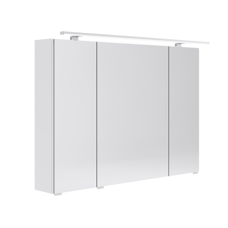 Armoire de toilette lumineuse l 100 cm blanc opale - Armoire de toilette lumineuse leroy merlin ...