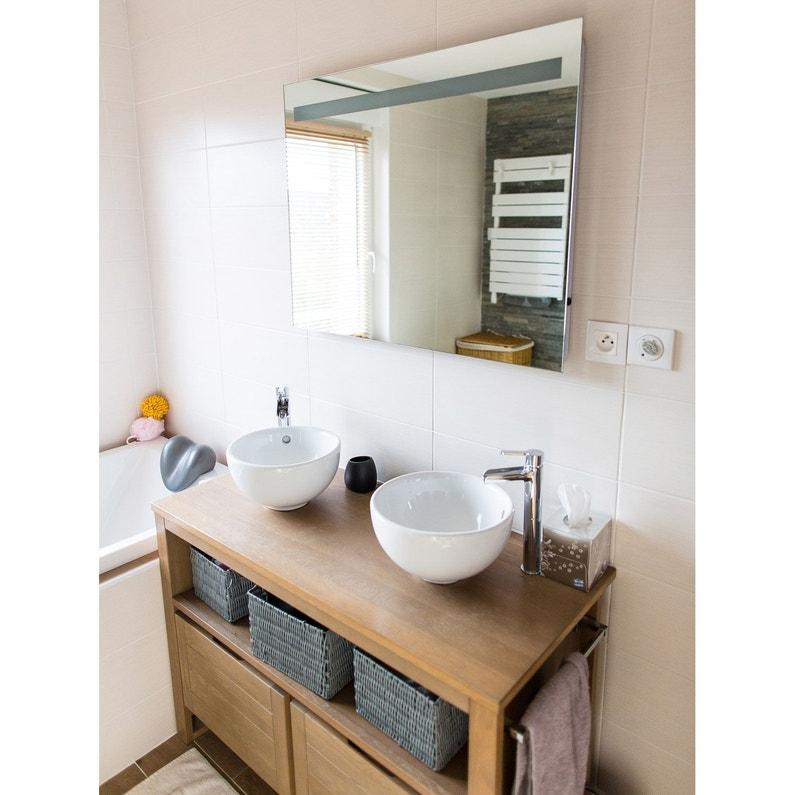 Miroir lumineux avec clairage int gr x cm terzo leroy merlin for Miroir 50 x 90