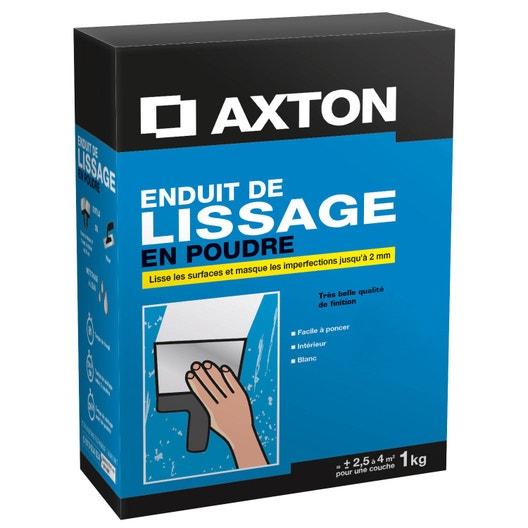 enduit de lissage poudre blanc axton 1 kg leroy merlin. Black Bedroom Furniture Sets. Home Design Ideas