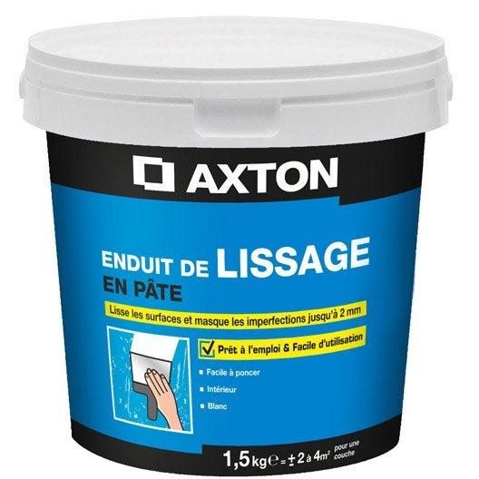 enduit de lissage pâte blanc cassé axton, 1.5 kg   leroy merlin