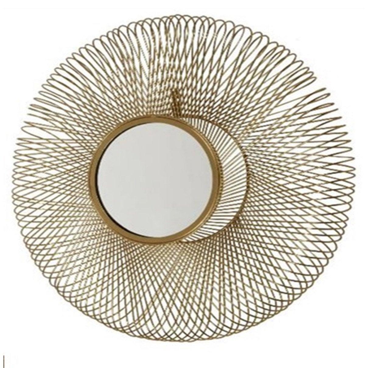 Miroir rond 3d, dorée diam.54 cm
