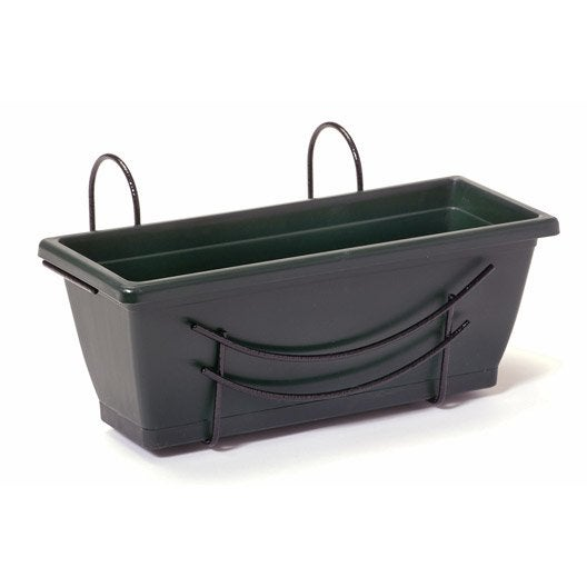 Jardini re plastique jardifer x x cm vert - Jardiniere plastique 120 cm ...