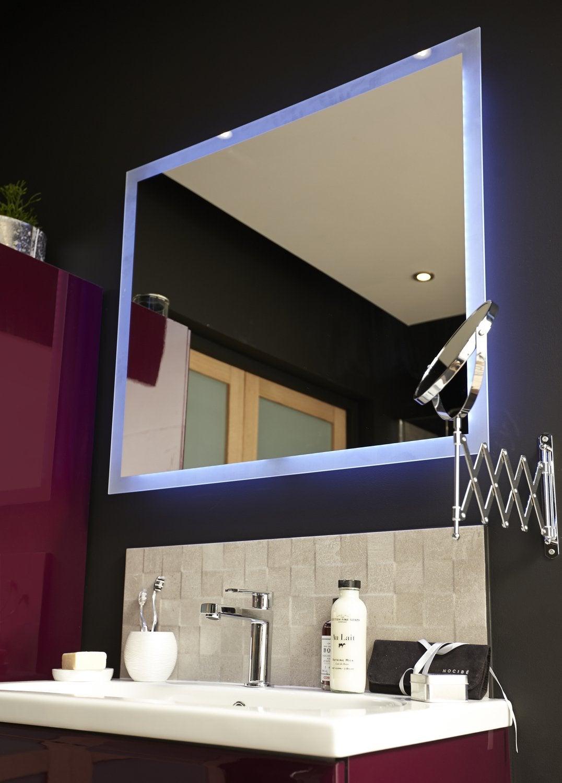 tout miroir de salle de bains lumineux with miroir grossissant lumineux leroy merlin. Black Bedroom Furniture Sets. Home Design Ideas