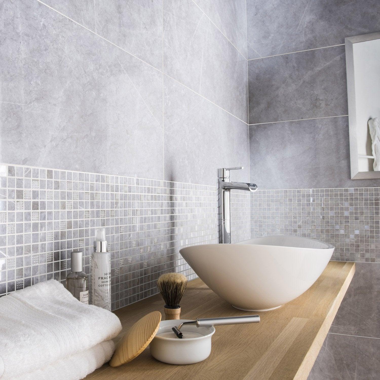 Faïence Mur Marbre Gris Brillant L.30.5 X L.91.5 Cm, Murano