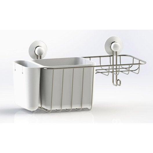 Panier de bain douche  ventouser blanc blanc n°0 Modulo avec