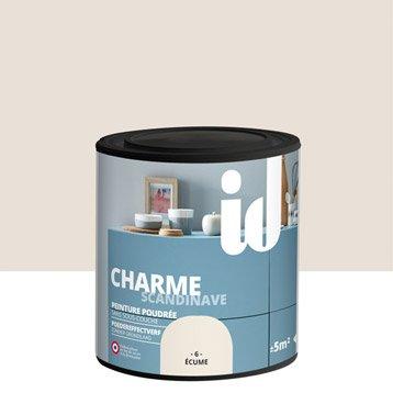 Peinture pour meuble, objet et porte, poudré, ID, Charme, ecume 0,5l